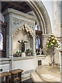 TV5999 : St Mary, Eastbourne - Easter sepuchre by John Salmon