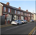ST1489 : Row of stone houses, Coed-y-brain Road, Llanbradach by Jaggery