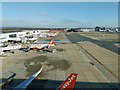 TQ2741 : Stands 54 - 49, Gatwick Airport by Robin Webster