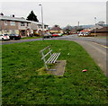 ST1095 : Metal bench on a green, Nelson by Jaggery