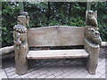 NY5726 : Carved bench at Center Parcs by M J Richardson