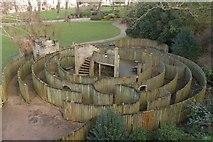 TR1457 : Log maze, Dane John Gardens by Mark Anderson