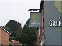 SO8690 : Green Man Pub Sign by Gordon Griffiths