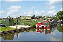 SJ8512 : Canal and farmland near Wheaton Aston in Staffordshire by Roger  Kidd