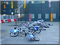 NS5365 : Nextbike Glasgow cycle hire point: Queen Elizabeth University Hospital by Thomas Nugent