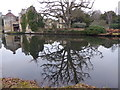 TQ6835 : Reflection of Scotney Castle in January by Marathon