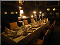 TQ6835 : The dining table at Scotney Castle on Christmas Eve 1872 by Marathon