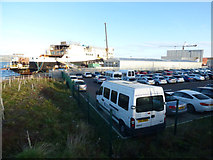 NS3274 : Ferguson Marine car park by Thomas Nugent