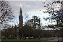 ST5673 : Edge of Clifton Park, looking towards Christ Church by Robert Eva