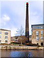 SE1139 : Britannia Mills Chimney by Des Blenkinsopp