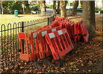 SX9164 : Barriers by Lymington Road, Torquay by Derek Harper