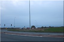 TF3901 : March Road at the junction of the A605 by David Howard