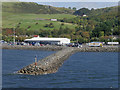 NX0667 : Stone Breakwater at P & O Ferry Terminal, Cairnryan by David Dixon