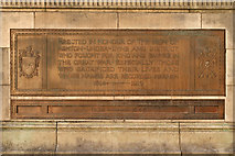 SJ9499 : Dedication Plaque, Ashton-Under-Lyne War Memorial by David Dixon