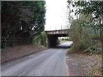 SO9568 : Railway bridge over Sugarbrook Lane, Bromsgrove by Jeff Gogarty