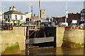 TA0928 : Removing cofferdam at Hull Marina by Ian S