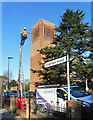 TQ1374 : Up the pole, Parkside Road by Des Blenkinsopp