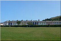 SN4562 : Gaily painted houses on Alban Square by Eirian Evans