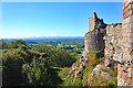 SJ5359 : View from the footbridge at Beeston Castle by Jeff Buck