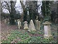 TF4510 : Gravestones in The General Cemetery in Wisbech by Richard Humphrey