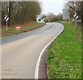 SO0328 : End of the 40mph speed limit on the A40 beyond Brecon by Jaggery