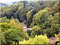 SJ2642 : The view from the Pontcysyllte aqueduct by Gerald England