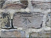 SE2519 : Ordnance Survey Cut Mark by Peter Wood