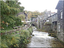 NY3704 : Stock Ghyll, the river in Ambleside by Eirian Evans