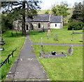 SS7698 : Path to St Illtyd's Parish Church, Llantwit, Neath by Jaggery