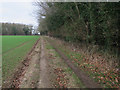 TF7506 : Footpath by Warren Belt by Hugh Venables