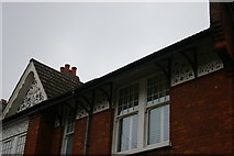 TQ2889 : Plaster decoration on houses, Dukes Avenue, Muswell Hill by Christopher Hilton