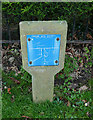 NZ8809 : Valve marker on the corner of The Carrs, Ruswarp by Stephen Craven
