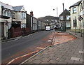 ST1586 : No Right Turn signs, Clifton Street, Caerphilly by Jaggery
