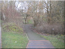 SO9199 : Path into parkland, Park Village by Richard Vince