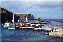 HZ2272 : Good Shepherd III arrival at Fair Isle by Julian Paren