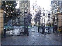 SJ3350 : Church Gates, St Giles, Wrexham by Eirian Evans