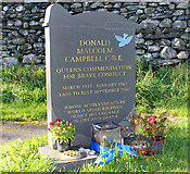 SD3097 : Donald Campbell's Gravestone, Coniston by Jeff Buck