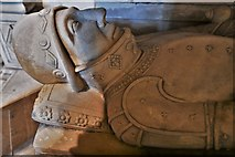 ST6316 : Sherborne Abbey: Memorial to Sir John Horsey and his son (ca 1565) 5 by Michael Garlick