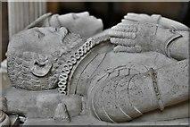 ST6316 : Sherborne Abbey: John and Joan Lewiston memorial (1584) detail by Michael Garlick