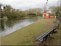 TQ3187 : Finsbury Park boating lake by Malc McDonald