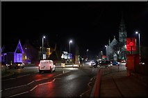 NJ9205 : Queen's Cross at night by Mark Anderson