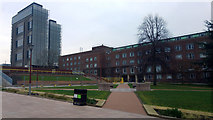 SP0483 : University Square, Birmingham University, looking towards the Arts Building and Muirehead Tower by Phil Champion