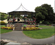 SS5147 : Steps up to the bandstand in Jubilee Gardens, Ilfracombe by Jaggery