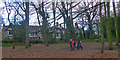 TQ3471 : Striding through Crystal Palace park by Robin Drayton