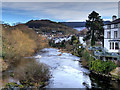 SJ2142 : Afon Dyfrdwy (River Dee) upstream from Llangollen Bridge by David Dixon
