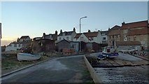 NO5201 : Slips and sheds at St Monans harbour by Gordon Brown