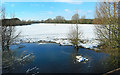 SP7006 : Snow on the Flood Plain by Des Blenkinsopp