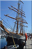 SX4854 : Tall ship (The Cloudy Bay), Sutton Harbour by N Chadwick