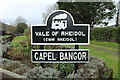 SN6479 : Capel Bangor station sign by Richard Hoare