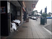 SZ0891 : Bournemouth: homelessness on a Westover Road doorstep by Chris Downer
